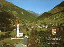 Moertschach-im-Moelltal-Kirche-Glocknerstrasse-Wappen-Kat-Moertschach
