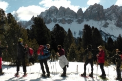 Italië Lüsneralm sneeuwwandelen