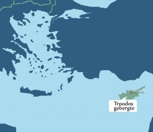 landkaartje van Cyprus